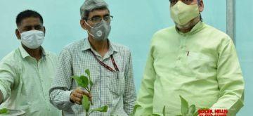 New Delhi :  Delhi's Environment Minister Gopal Rai visits the ITO Nursery regarding the distribution of  Medicinal plants at ITO Nursary in New Delhi on Friday 11 June 2021. (Photo: IANS)