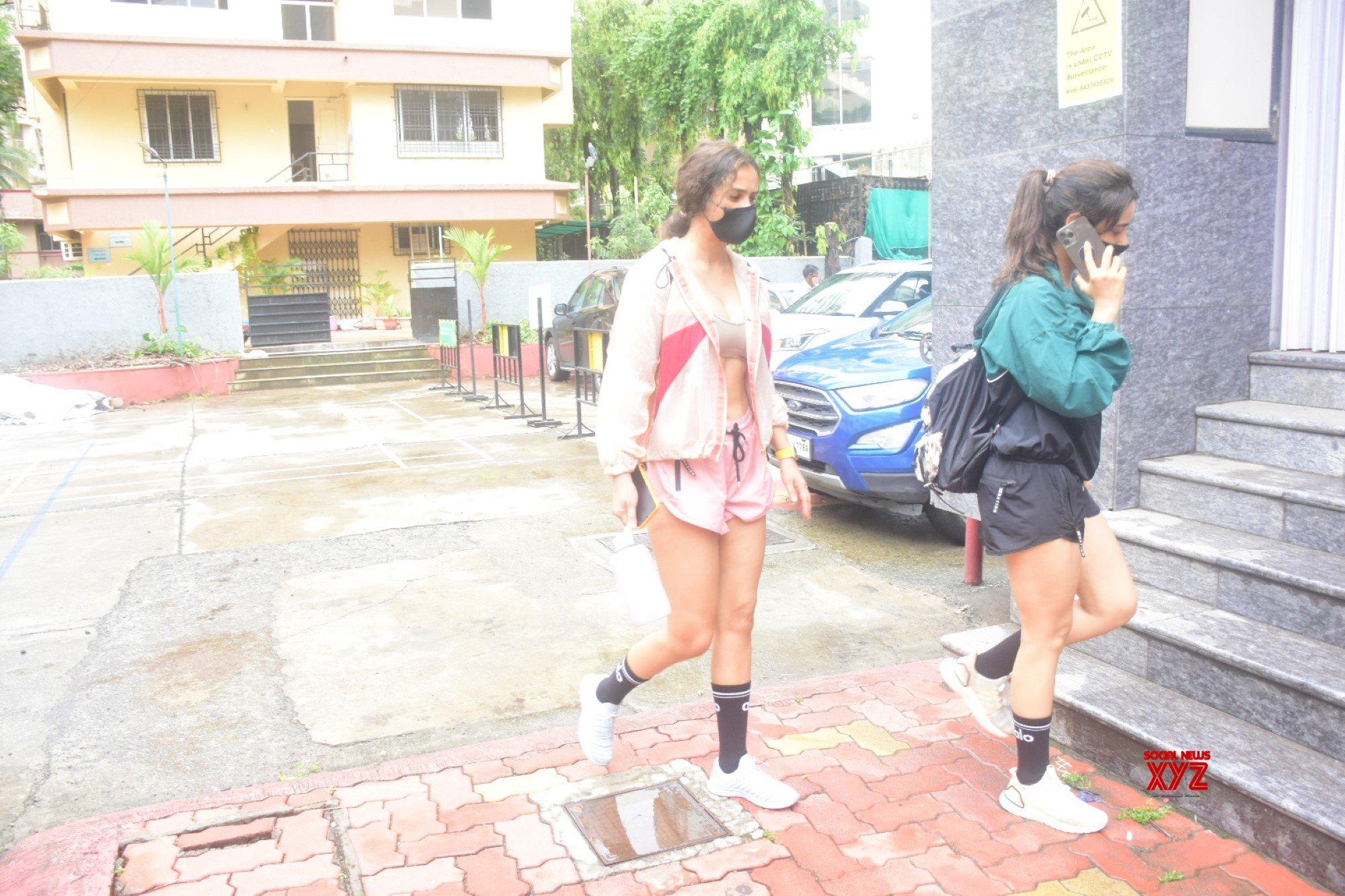 Neha Sharma And Aisha Sharma Spotted Outside Gym At Bandra - Gallery