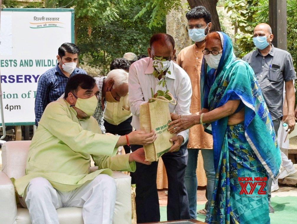 New Delhi : Delhi's Environment Minister Gopal Rai visits the ITO Nursery regarding distribution of - Medicinal plants at ITO Nursary in New Delhi. #Gallery