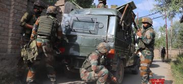 Srinagar: An encounter broke out between the terrorists and security forces at Parimpora area in Srinagar on Monday, June 28, 2021. (Photo: IANS)