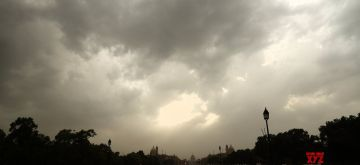 New Delhi: Dark clouds engulf the national capital on an overcast day, on June 29, 2020. (Photo: IANS)