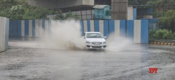 New Delhi : Water logged at a Underpass near IGI airport during the heavy rain in New Delhi on Monday July 19, 2021.(Photo: Wasim Sarvar/IANS)