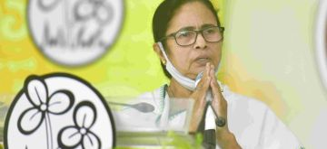 Kolkata: West Bengal Chief Minister and TMC supremo, Mamata Banerjee during 21 July TMC Martyrs day virtually observed at Kalighat her residence in Kolkata  on Wednesday July 21, 2021(Photo: IANS)
