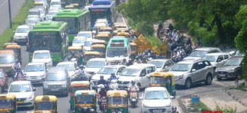 New Delhi: A huge traffic jam at Ring Road near ITO in New Delhi on Thursday, July 22, 2021. (Photo: Qamar Sibtain/ IANS)