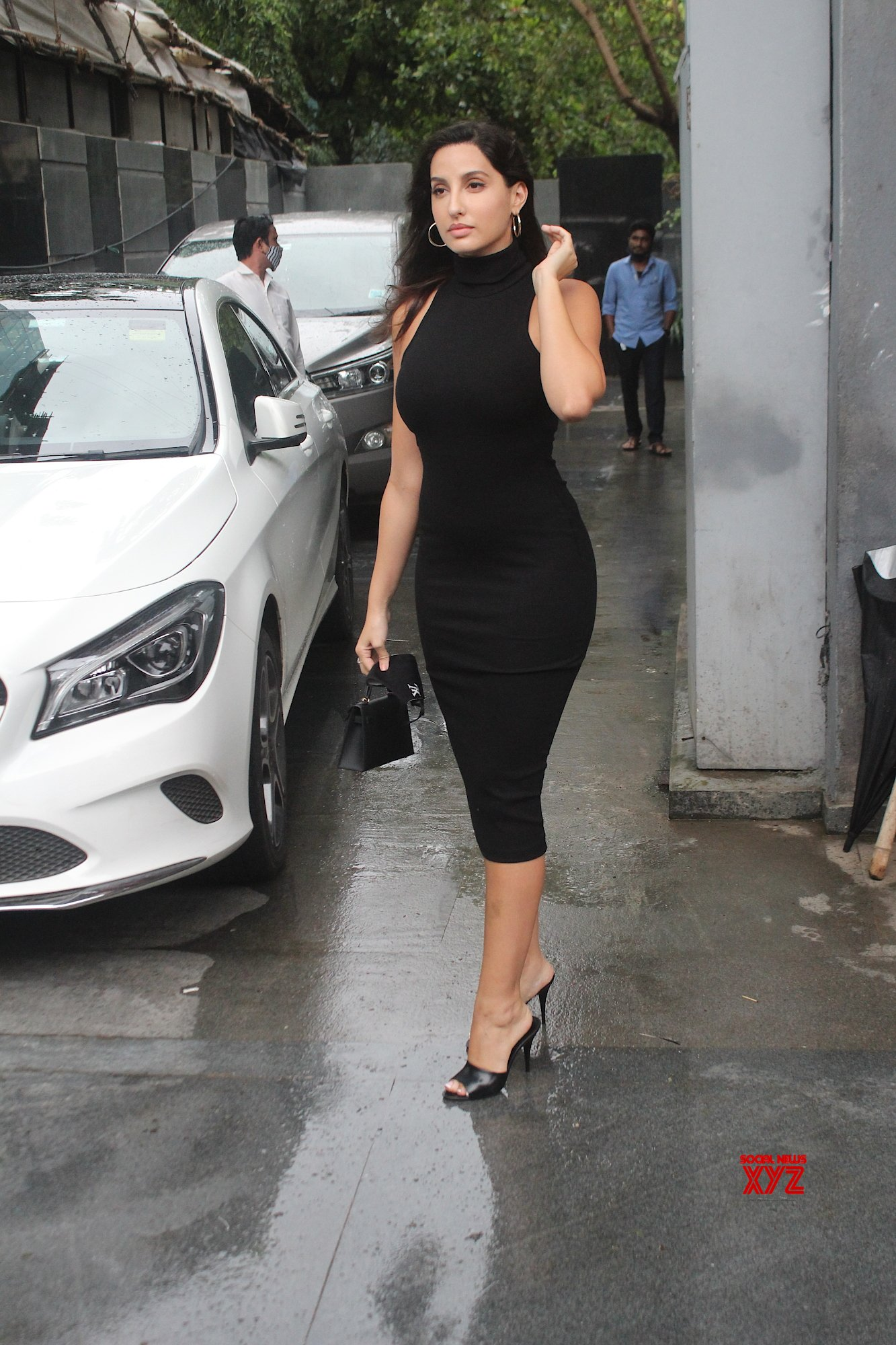 Actress Nora Fatehi Spotted At Juhu - Gallery