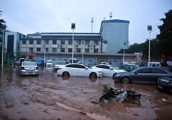 - Photo taken on July 21, 2021 shows the scene after flood in Mihe Town of Gongyi City, central China's Henan Province. #Gallery