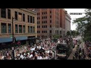 Bucks' fans celebrate NBA championship with parade (Video)