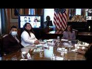 Harris meets DACA recipients after federal ruling (Video)
