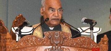 Srinagar: Violence, which was never part of 'Kashmiriyat', became the daily reality in Jammu and Kashmir, said President Ram Nath Kovind on Tuesday urging the younger generation to learn from their rich legacy of peaceful coexistence.(Photo:Nissar Malik/IANS)