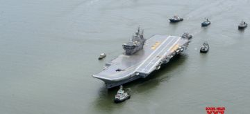Sea trials of India's first indigenous aircraft carrier kick off