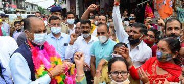 Shimla : Chief Minister Jai Ram Thakur announces Sub Tehsil at Dhalwan and upgradation of CHC Baldwara to Civil Hospital on Thursday, August 26, 2021.(Photo:IANS)