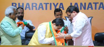 New Delhi: Uttarakhand Congress MLA Rajkumar joins BJP at party office in New Delhi Sunday, September 12, 2021. (Photo: Qamar Sibtain/ IANS)