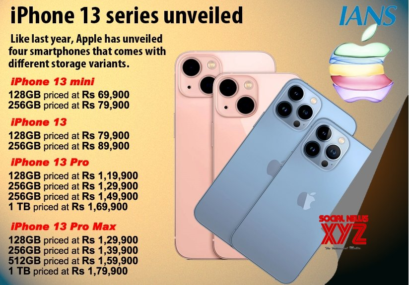 Infographics: iPhone 13 series unveiled #Gallery