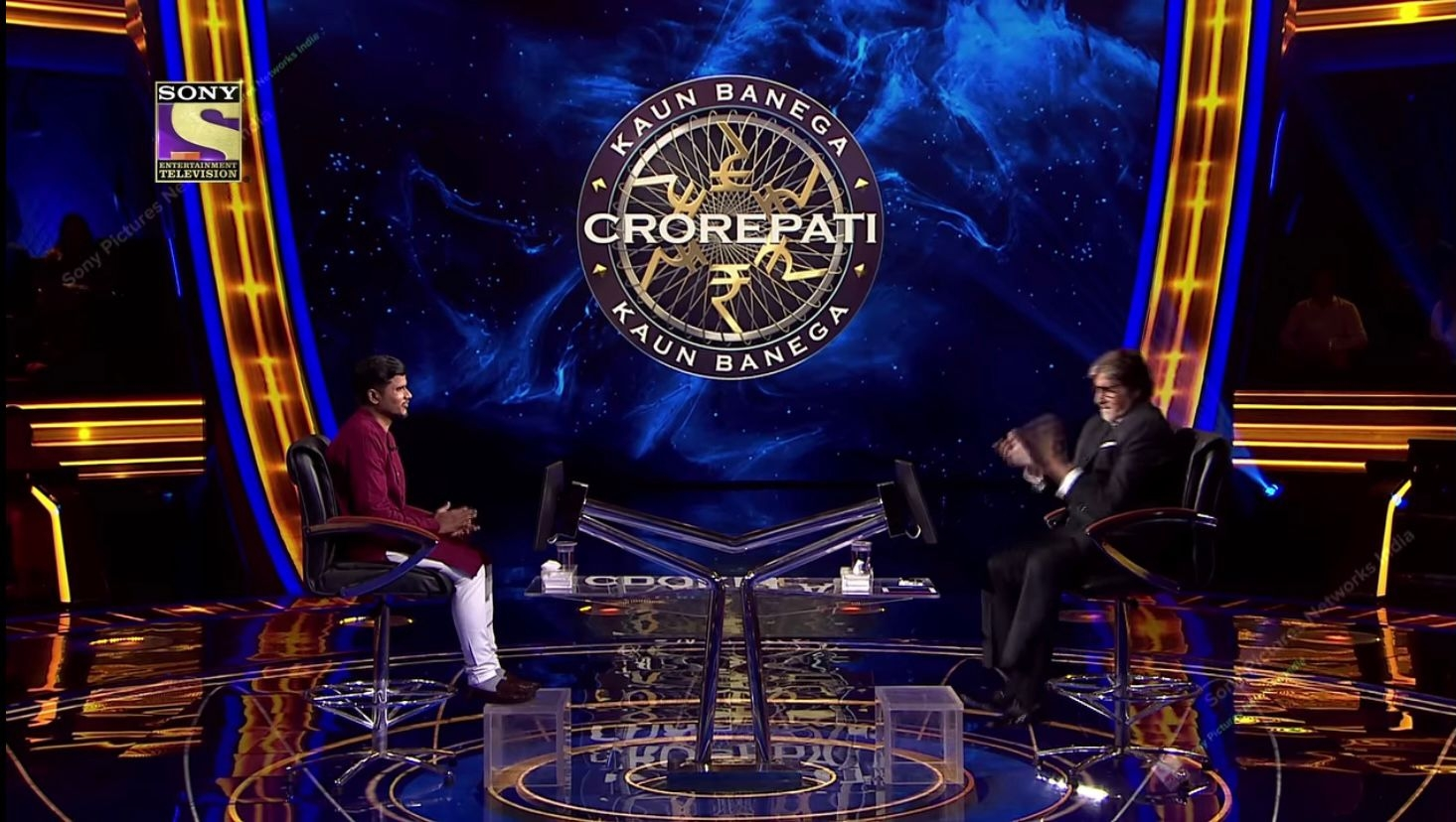Big B turns 'delivery man' for 'KBC 13' contestant
