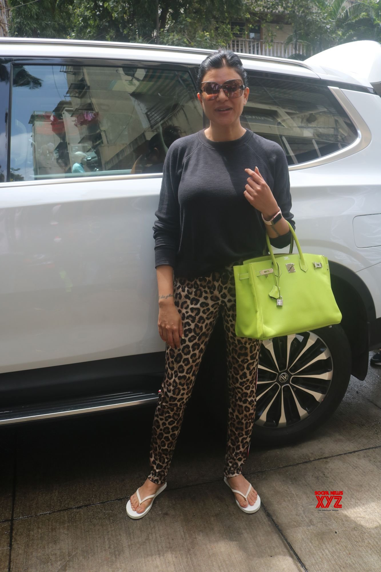 Actress Sushmita Sen Spotted Outside Her Residence In Bandra - Gallery