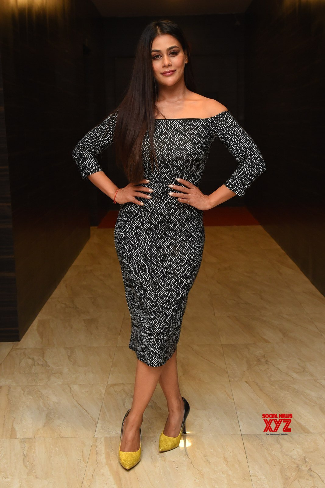 Actress Sneha Gupta Stills From Gully Rowdy Pre Release Event