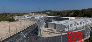 Photo taken on Sept. 18, 2021 shows a view of the new reception and identification camp for asylum seekers on Samos island, Greece. (Xinhua/Marios Lolos)