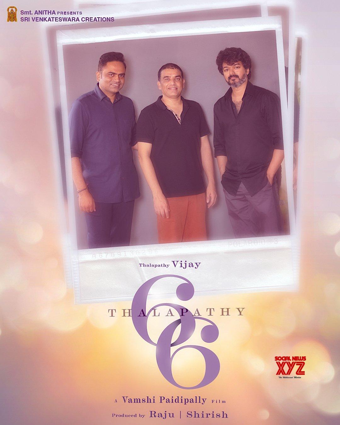 Thalapathy Vijay's 66th Film With Vamshi Paidipally And Dil Raju