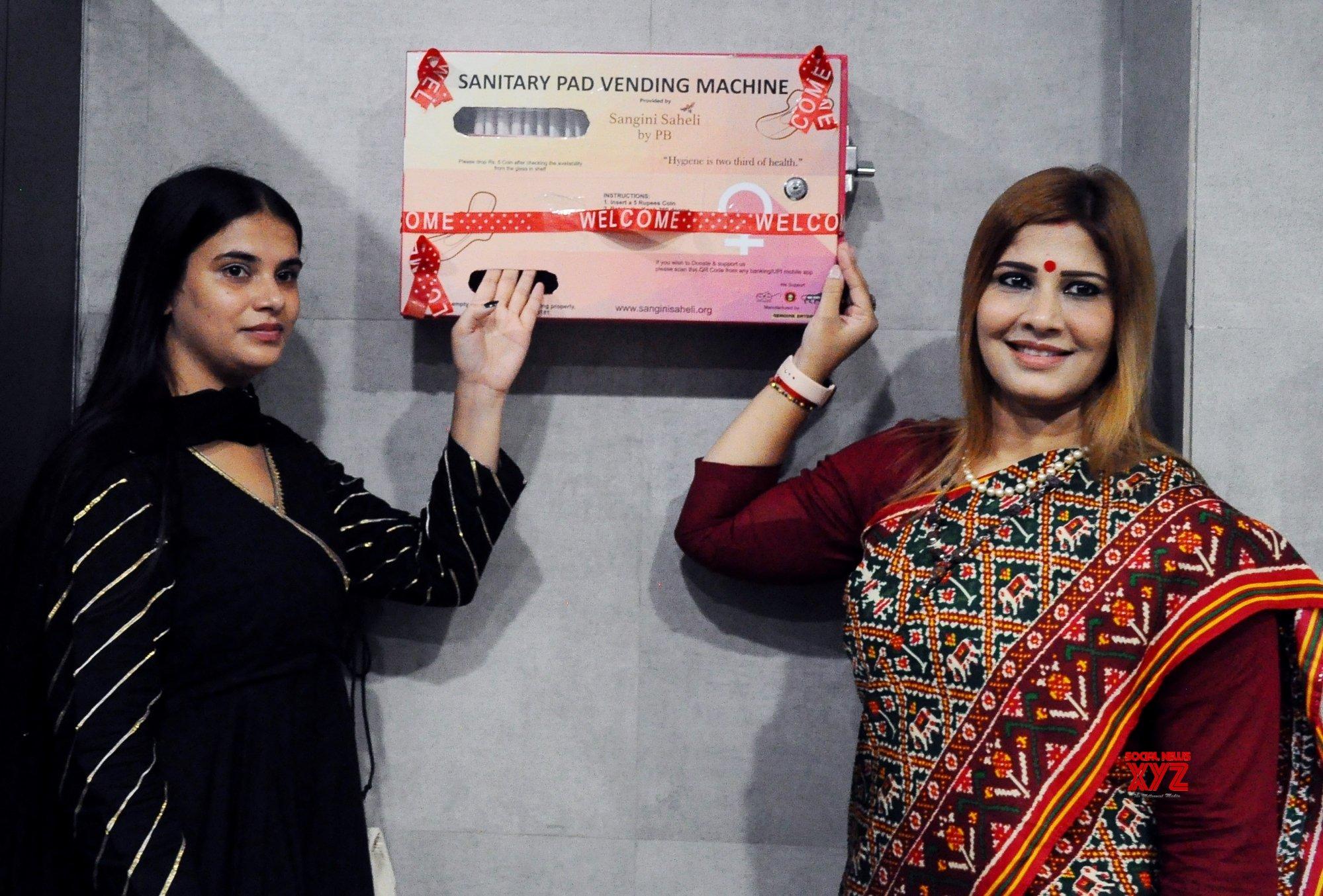 New Delhi: Sanitary Pad Vending Machine inaugurated by National President of Mahila Morcha at BJP Headquarters in New Delhi #Gallery - Social News XYZ