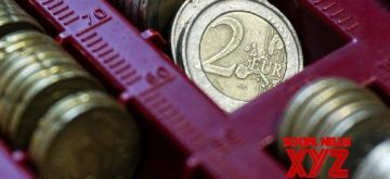 Coins of the euro are seen in Brussels, Belgium, Dec. 28, 2018. (Xinhua/Zheng Huansong/IANS)
