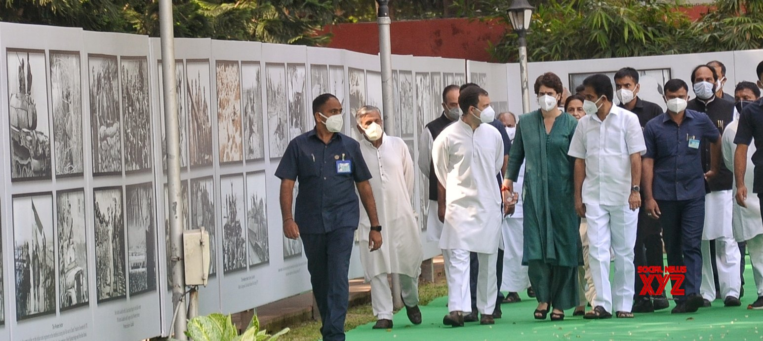 New Delhi : Former party president Rahul Gandhi and general secretary Priyanka Gandhi inaugurated the photo exhibition at Congress headquarters on Wednesday morning to commemorate the 50th anniversary of the 1971 Bangladesh war #Gallery
