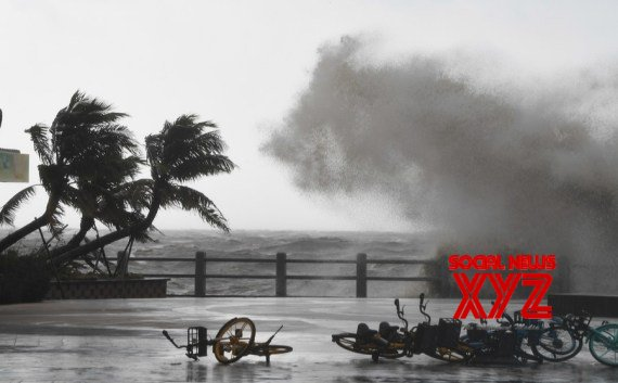 Huge waves lash the shore in Haikou, capital of south China's Hainan Province. #Gallery