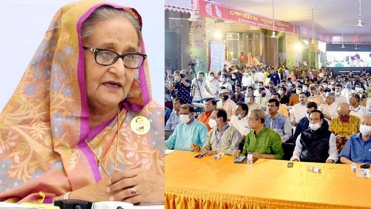 Don't think of yourself as a minority, Sheikh Hasina tells Hindu community
