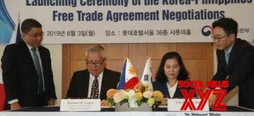 Seoul : S. Korea, Philippines ink free trade deal. (YONHAP/IANS)