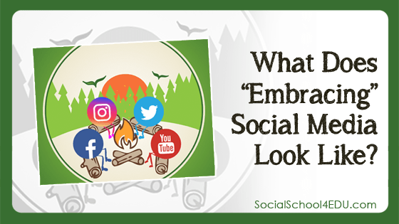 """What does """"embracing"""" social media look like?"""