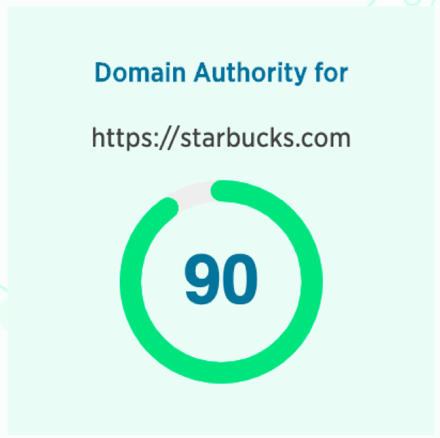 starbucks domain authority