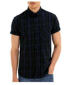 Men's tartan top