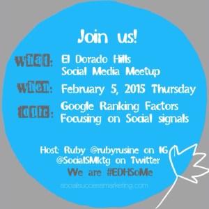 Google Ranking Factors   Social Media Meetup Topic