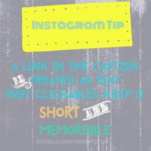 Instagram Tip   URL or Link in Caption