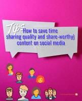 time saving tips social media content management