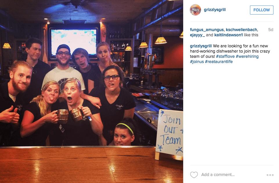 kreative Instagram Stellenanzeigen mit dem Team