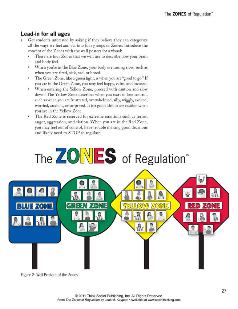 Zones Out Regulation Printables Inside