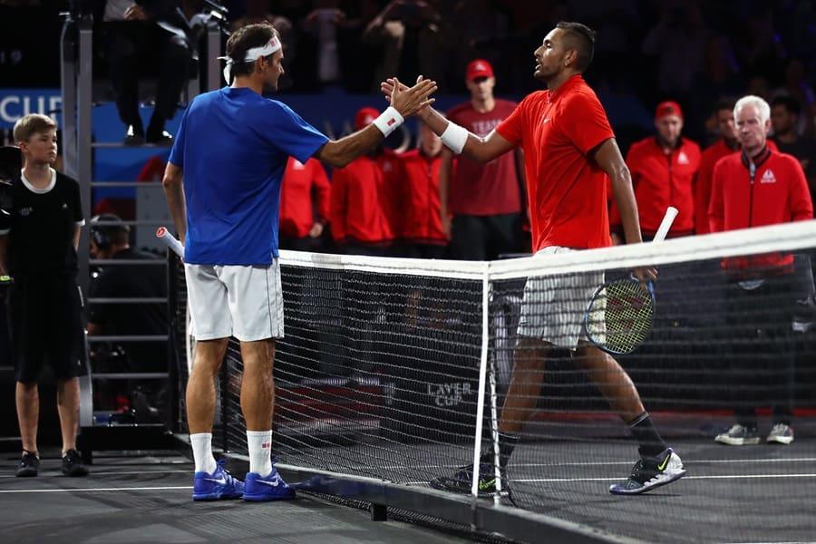 Federer contro Kyrgos alla Laver Cup 2019