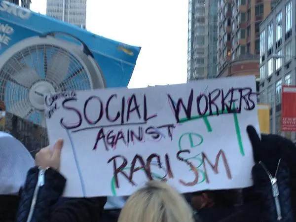 racism social work The school of social work at the university of north carolina at charlotte affirms its commitment to recognizing, addressing, and eradicating all forms of racism and ethnic oppression.
