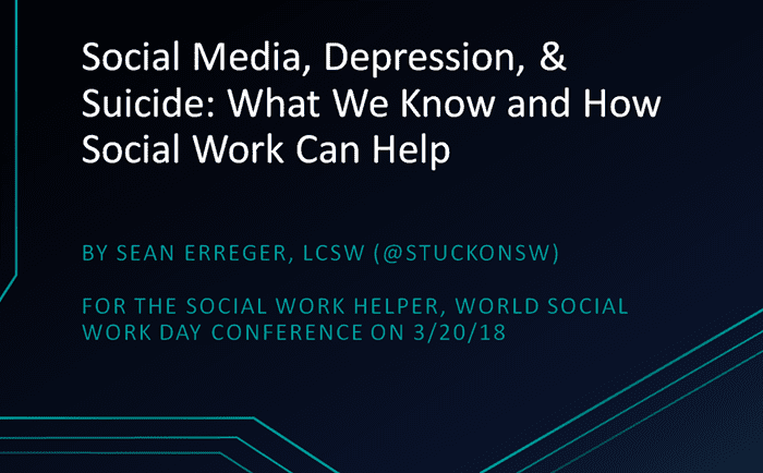 Social Media, Suicide Prevention, and Youth