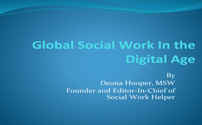 Global Social Work in the Digital Age