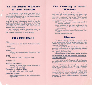 Auckland Association of Social Workers, Broadsheet Two.