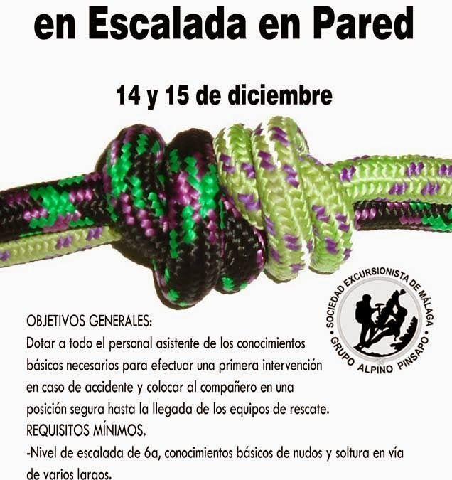 Curso de Autorrescate en pared, 14 y 15 de diciembre.