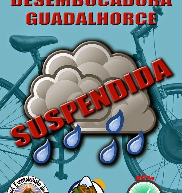 Salida desembocadura del Guadalhorce suspendida por mal tiempo.