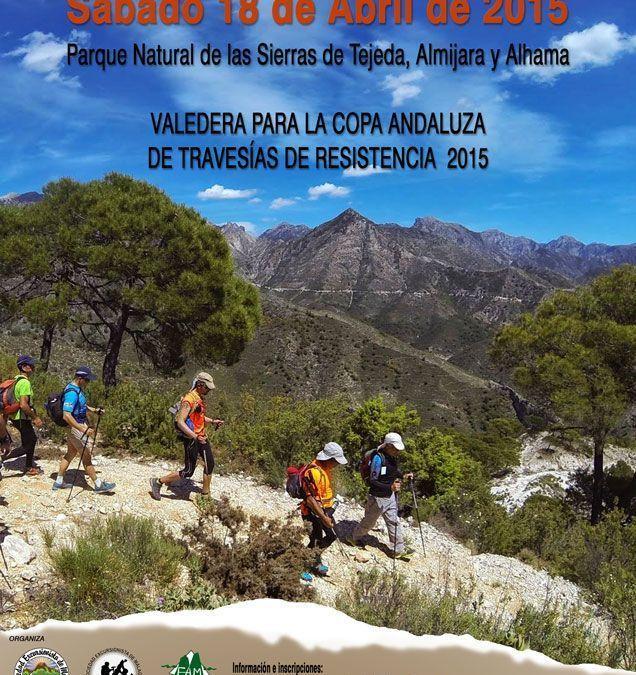 XV Travesía de Resistencia Tejeda Almijara,  sábado 18 de abril.