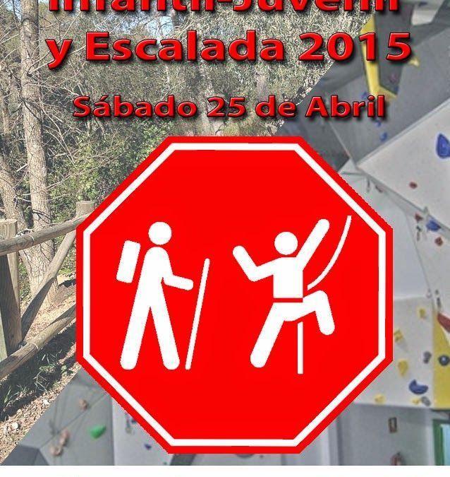 Final de Travesías Infantil-Juvenil y Escalada 2015, 25 de abril.