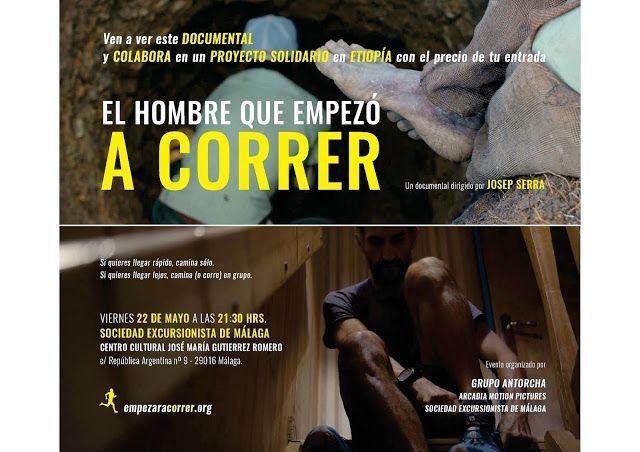 Proyeccion documental «El hombre que empezó a correr», viernes 22 de mayo