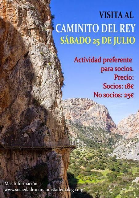 Visita al Caminito del Rey, sábado 25 de julio.