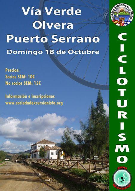 Ruta Ciclista Olvera – Puerto Serrano, domingo 18 de octubre.