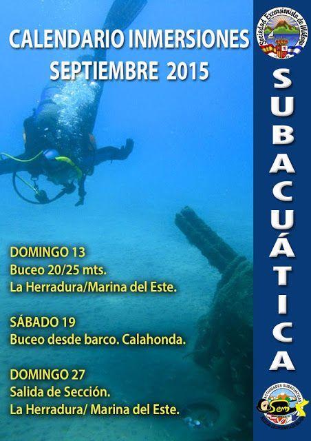 Calendario subacuática, septiembre 2015