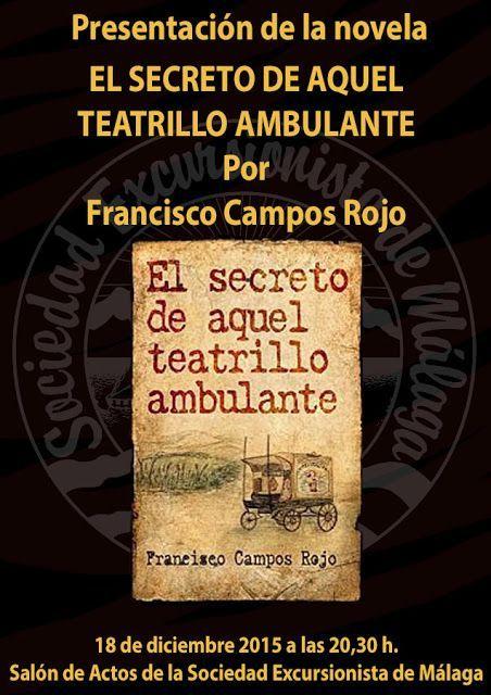 Presentación de la novela «El secreto de aquel teatrillo ambulante», viernes 18 de diciembre a las 20.30h.